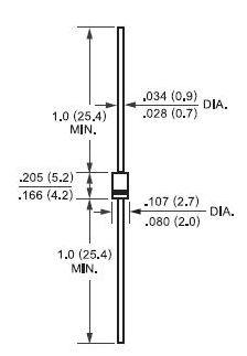 Выпрямительнй диод 1N4001 — 1N4007