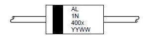 Выпрямительный диод 1N4001 — 1N4007