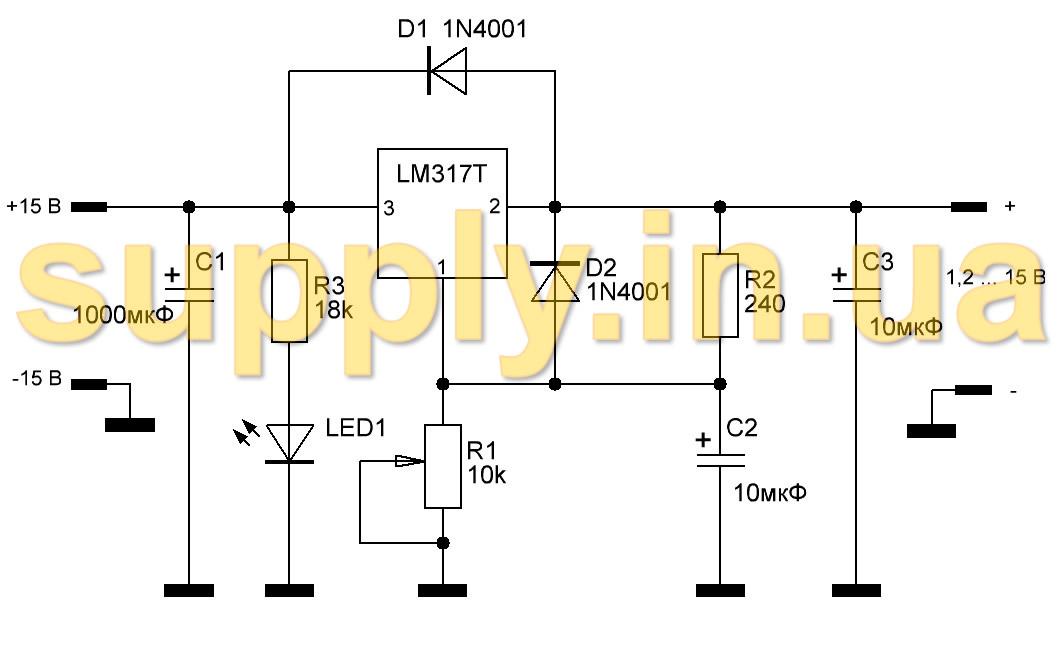 Микросхема LM317T и ее полный