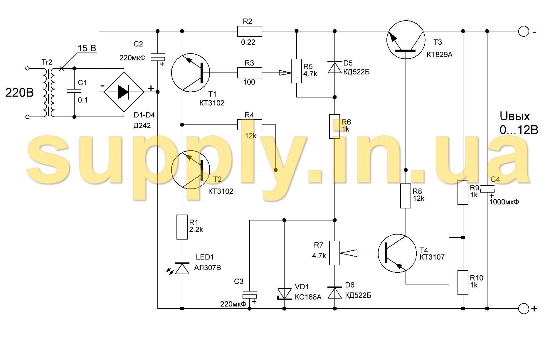 схема регулятора тока для светодиодной ленты